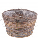 Plant tub Esira, D40cm, H25cm, natural